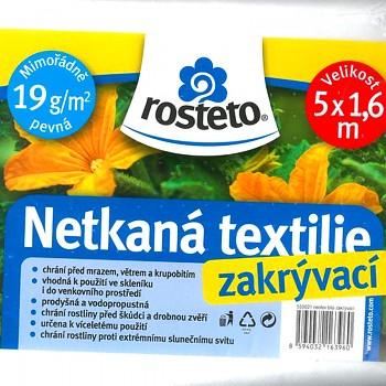 BÍLÁ NETKANÁ TEXTILIE 5 x 1,6m