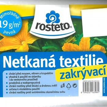 BÍLÁ NETKANÁ TEXTILIE 10 x 3,2m
