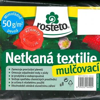 ČERNÁ NETKANÁ TEXTILIE 10 x 1,6m