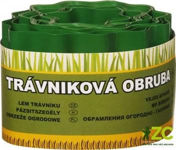 OKRAJ TRÁVNÍKU 9m x 10 cm zelený