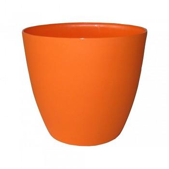 KVĚTINÁČ ELLA - lesklý oranžový 13 cm