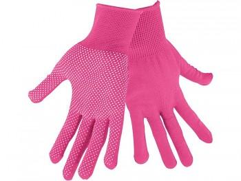 """Rukavice z polyesteru s PVC terčíky na dlani, velikost 7"""" EXTOL-LADY"""